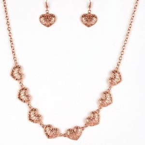 Easy To Adore - Copper Necklace Set